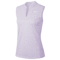Nike Dry Victory Sleeveless Print Golf Polo - Women's - Purple