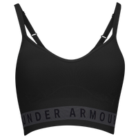 Under Armour Seamless Logo Bra - Women's - Black / Grey