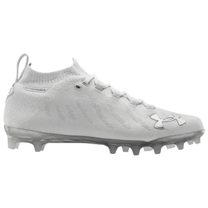 Under Armour Spotlight LUX MC - Men's - White/White/Metallic Silver