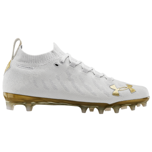 Under Armour Spotlight LUX MC - Men's - White/White/Metallic Gold