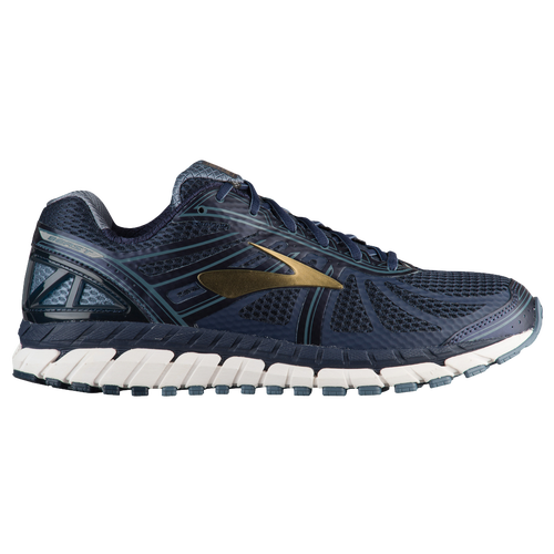 Brooks Beast 16 - Men s - Running - Shoes - Peacoat Navy China Blue Gold 44805f3735d