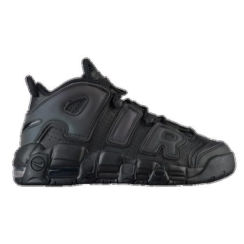 181108c6c2 Nike Air More Uptempo - Boys' Grade School - Basketball - Shoes -  Black/Black/Wolf Grey