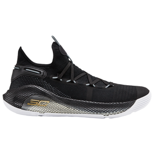 Under Armour Curry 6 - Men's - Curry, Stephen - Black/White/Metallic Gold