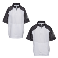 Holloway Raider Pullover Short Sleeve Cage Jacket - Boys' Grade School - White