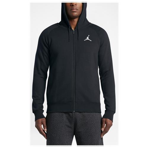 Jordan Flight Fleece Full-Zip Hoodie - Men\u0027s - All Black / Black