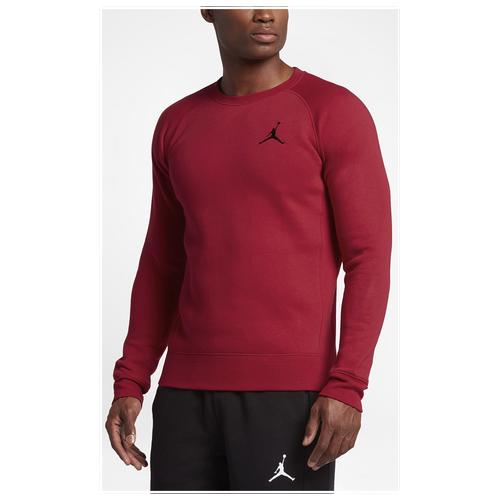 59251820d49199 Jordan Flight Fleece Crew - Men s - Basketball - Clothing - Gym Red ...