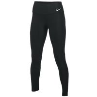 Nike Team Authentic Power Poly Wrap Tights - Women's - Black / Black
