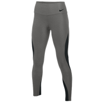 Nike Team Authentic Power Poly Wrap Tights - Women's - Grey / Black