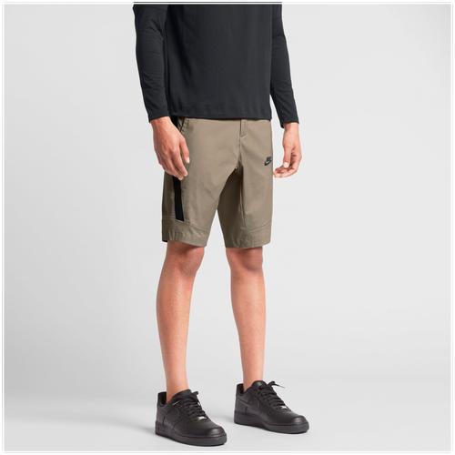 b5021c56a9d25 Nike Bonded Woven Shorts - Men's - Casual - Clothing - Khaki/Black