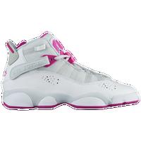 on sale 4cd54 acb44 Jordan 6 Rings - Girls  Grade School - Grey   Pink