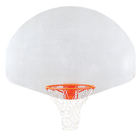 Porter Outdoor Aluminum Backboards - White / Orange