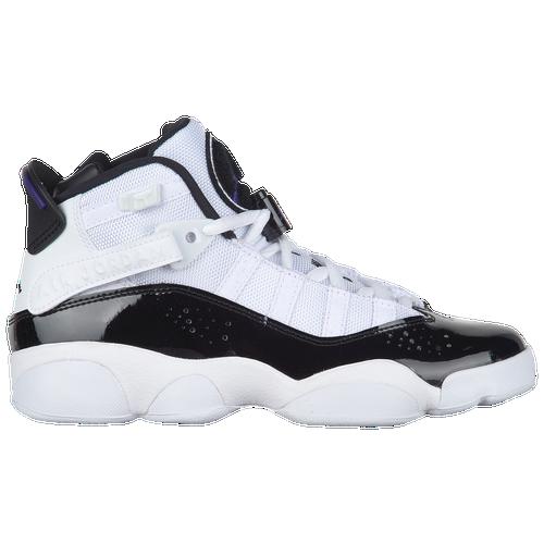 Jordan 6 Rings - Boys  Grade School - Jordan - Basketball -  White Black Dark Concord Clear 777902b99d