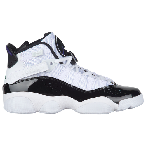 fe6a56bb22f Jordan 6 Rings - Boys' Grade School - Basketball - Shoes - White/Black/Dark  Concord/Clear