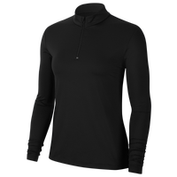 Nike Dry Victory UV 1/2 Zip Golf Top - Women's - Black