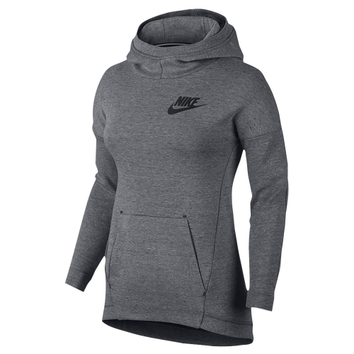 Nike Tech Fleece Pullover Hoodie - Girls' Grade School - Grey / Grey