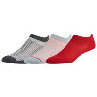 ASICS® Seamless Cushion Low 3 Pack Socks - Women's - Grey / Red