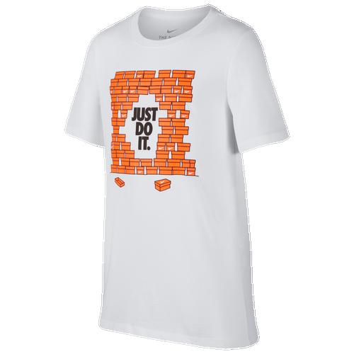 328826be1 Nike JDI Anniversary Shoebox T-Shirt - Boys' Grade School - Nike - Casual - Signal  Blue/Cone