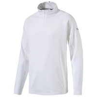 PUMA Core Golf 1/4 Zip Popover - Men's - All White / White