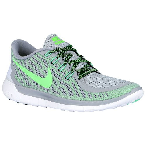 Nike Free 5.0 2015 - Women's Running Shoes - Wolf Grey/Green Strike/Ghost Green/Voltage Green 24383013
