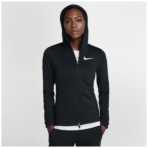 Nike Thermaflex Showtime F/Z Hoodie - Women's Basketball - Black/White 24526010