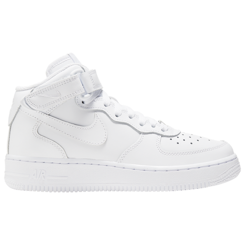 Nike Air Force 1 Mid - Boys\u0027 Grade School - Basketball - Shoes - White/White