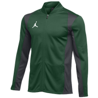 Jordan Team Basketball Flight Knit Jacket - Men's - Dark Green / Grey