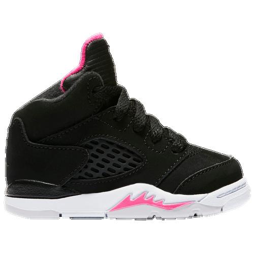 b188113beb38 ... Jordan Retro 5 - Girls Toddler - Black Pink