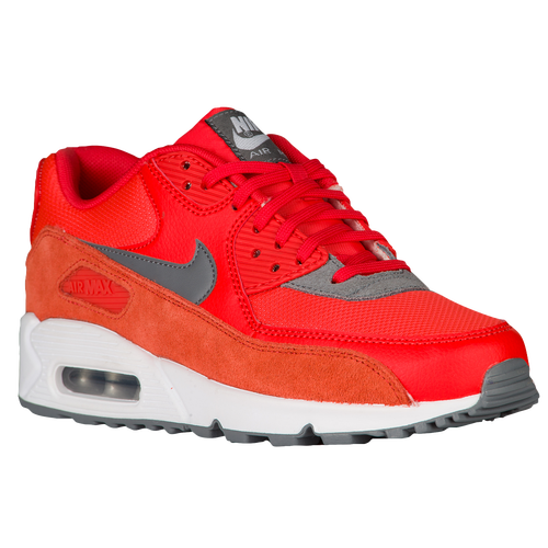 nike air max 90 women's orange and grey
