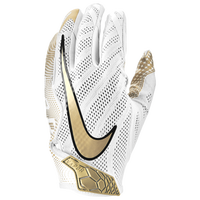 Nike Vapor Knit 3.0 Football Gloves - Men's - White / Gold