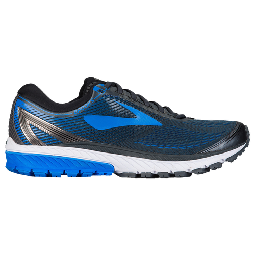 Brooks Ghost 10 - Men's Running Shoes - Ebony/Metallic Charcoal/Electric Blue 2572E056