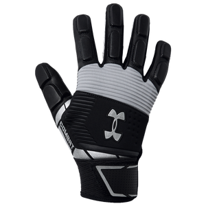 Under Armour Combat V Full Finger Lineman Gloves - Men's - Black/White