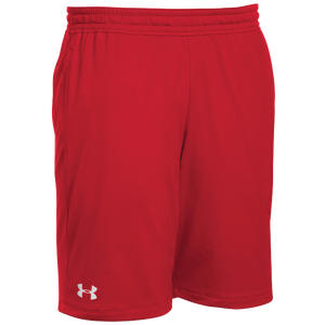 Under Armour Team Pocketed Raid Shorts - Boys' Grade School - Red/White