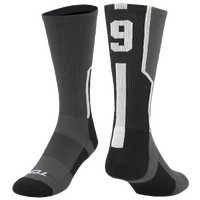 Twin City Player ID Custom Number Crew Socks - Men's - Grey / Black