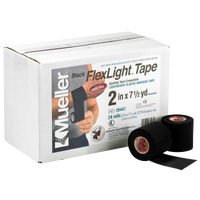 Mueller FlexLight Spatting Tape - All Black / Black