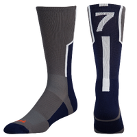 Twin City Player ID Custom Number Crew Socks - Men's - Grey / Navy
