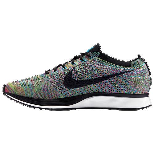 Nike Flyknit Racer - Men's - Running - Shoes - Green Strike/Black/Blue  Lagoon/Pink Pow