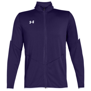 Under Armour Team Team Rival Knit Warm-Up Jacket - Men's - Purple/White