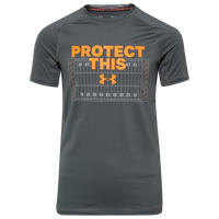 Under Armour Protect This Fitted S/S Compression Top - Boys' Grade School - Grey