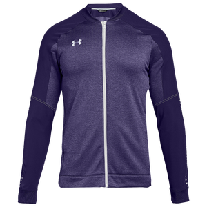 Under Armour Team Qualifier Hybrid Warm-Up Jacket - Men's - Purple/White