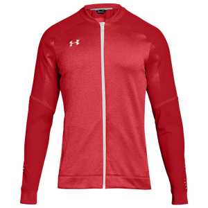 Under Armour Team Qualifier Hybrid Warm-Up Jacket - Men's - Red/White
