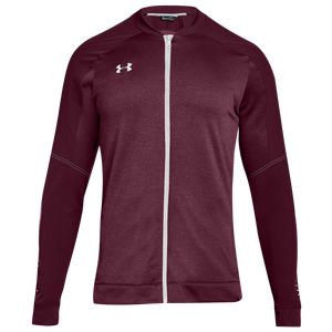 Under Armour Team Qualifier Hybrid Warm-Up Jacket - Men's - Maroon/White