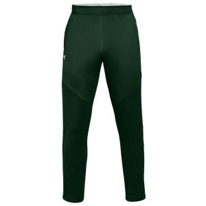 Under Armour Team Qualifier Hybrid Warm-Up Pants - Men's - Forest Green/White