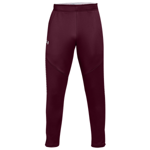 Under Armour Team Qualifier Hybrid Warm-Up Pants - Men's - Maroon/White