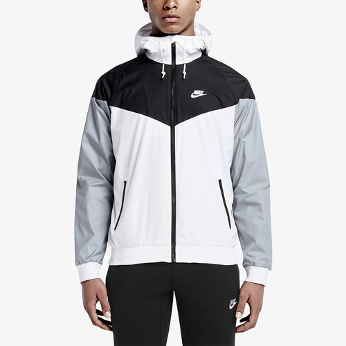 nike windrunner jacket men 39 s casual clothing white black wolf grey white. Black Bedroom Furniture Sets. Home Design Ideas