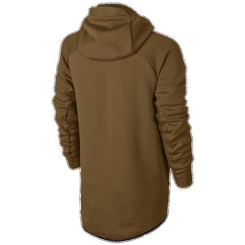 Nike Tech  Hero Full Zip Fleece - Men's Golden Beige/Golden Beige/Obsidian