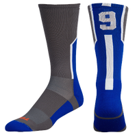 Twin City Player ID Custom Number Crew Socks - Men's - Grey / Blue