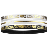 Nike Metallic Hairbands 2.0 3 Pack - Women's - White