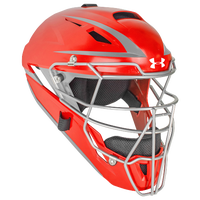 Under Armour Converge Catcher's Head Gear - Adult - Red / Silver