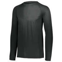 Augusta Sportswear Team Attain Wicking Long Sleeve T-shirt - Boys' Grade School - All Black / Black