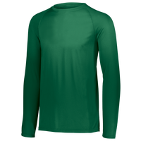 Augusta Sportswear Team Attain Wicking Long Sleeve T-shirt - Boys' Grade School - Dark Green